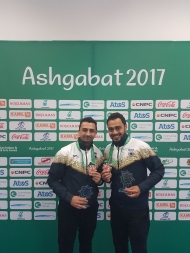 Dhruv Sarda and Shabbir Dhankot win Men's Doubles Bronze at 5th Asian Indoor & Martial Arts Games at Ashgabat